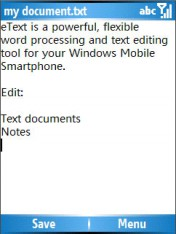 eText Editor & Word Processor v1.21