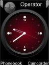 Red Analogue Clock