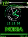 Nokia Green Clock
